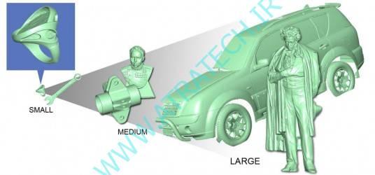 اسکنر سه بعدی بدون محدودیت ابعادی
