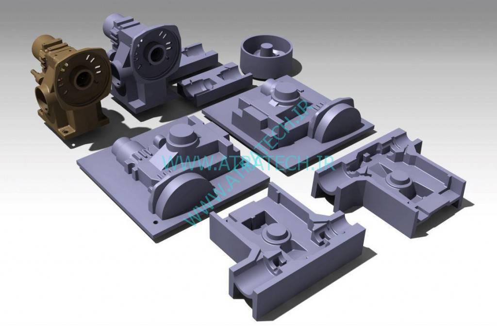 نمای شماتیکی از مراحل مدلسازی (گیربکس آسانسور)