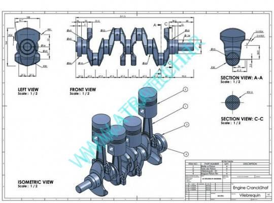 فضای Drawing نرم افزار SolidWorks