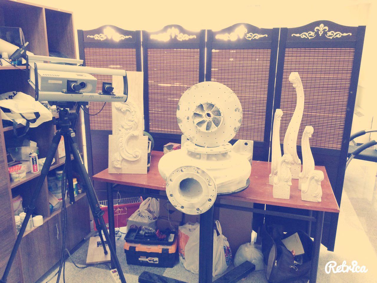 اسکن سه بعدی انواع قطعات صنعتی و تزیینی