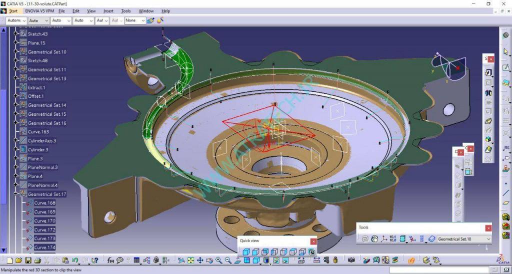 مهندسی معکوس حلزونی پمپ فرآیندی