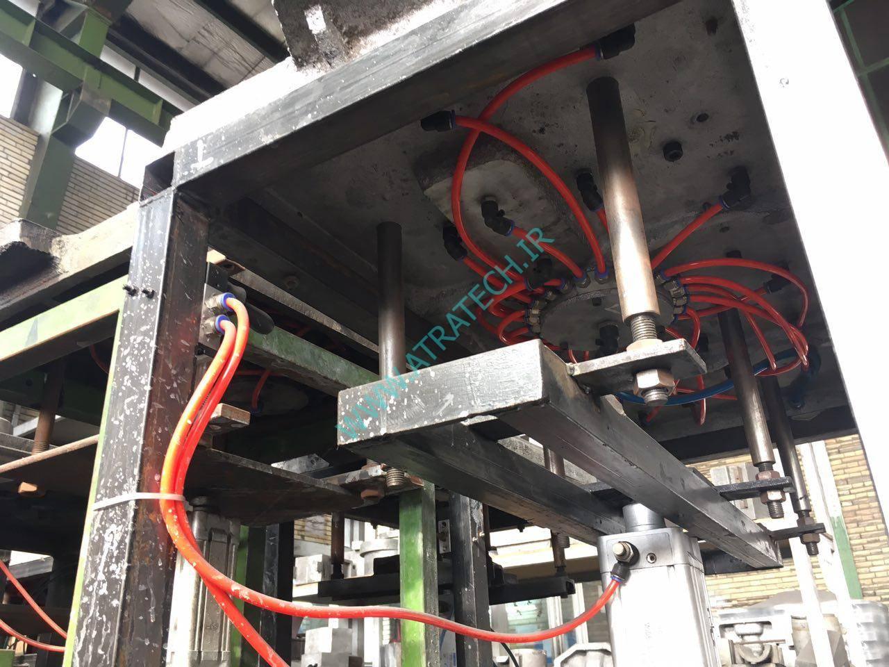 دستگاه قالب گیری پنوماتیکی به همراه سیستم گازکشی