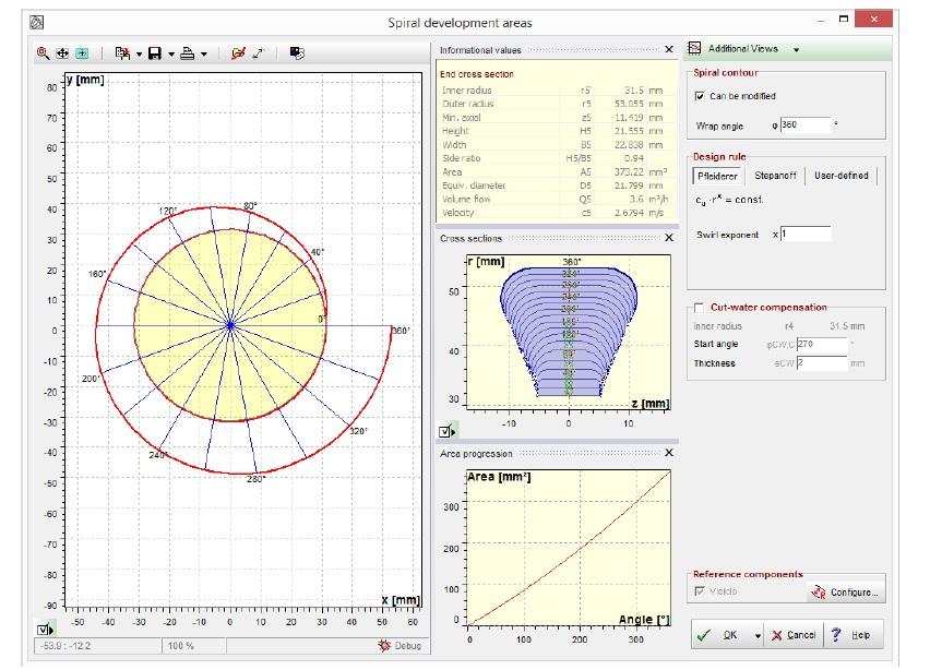 طراحی حلزونی در نرم افزار CF-TURBO